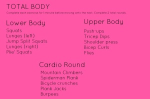 Total Body Workout-15 or 30 minute